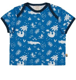 Loud+Proud T-shirt, cobalt, jungleprint
