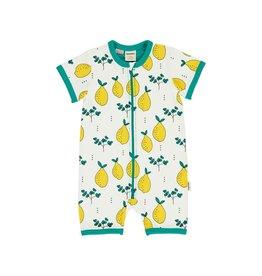 Meyadey Summerzipsuit, leafy lemon (0-2j)