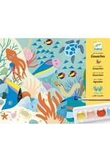 Djeco Djeco - kunst op nummer, waterverf, natural world
