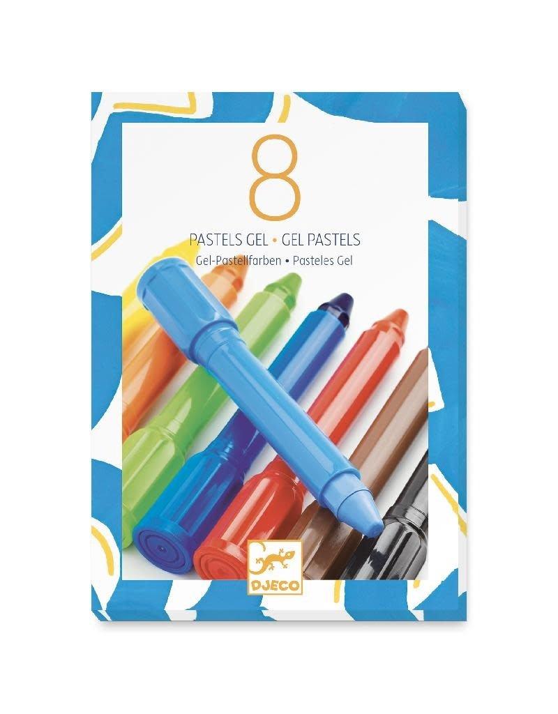 Djeco Djeco - gelpastels, harde kleuren, 8