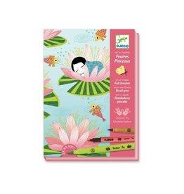 Djeco Kunst op nummer, viltstiften, waterlelies