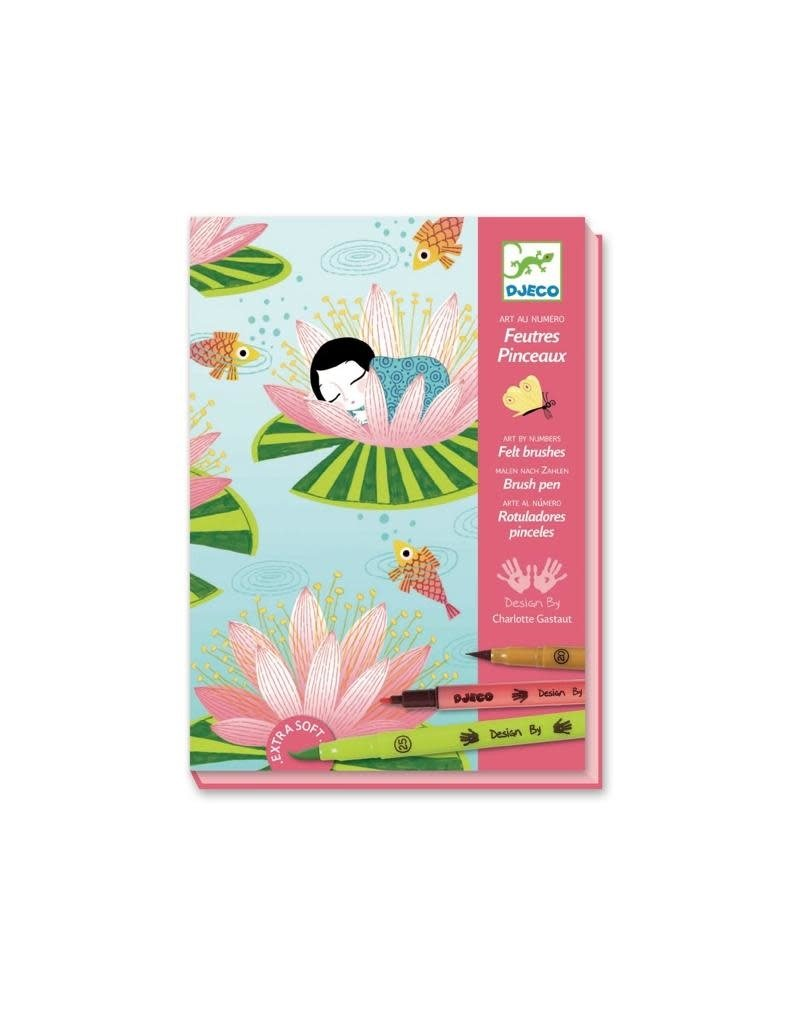 Djeco Djeco - kunst op nummer, verfstiften, waterlelies