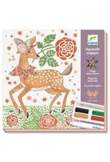 Djeco Djeco - atelier met magisch aquarel, elegante bosdieren