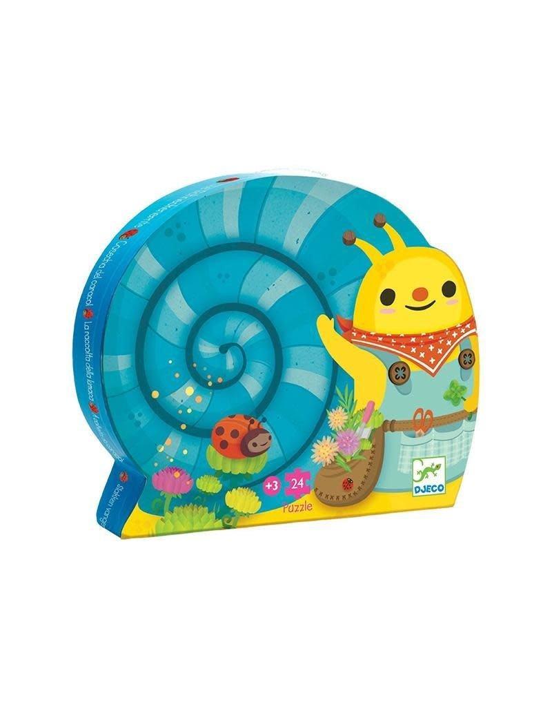 Djeco Djeco - puzzel, slakken vangen, 24 st