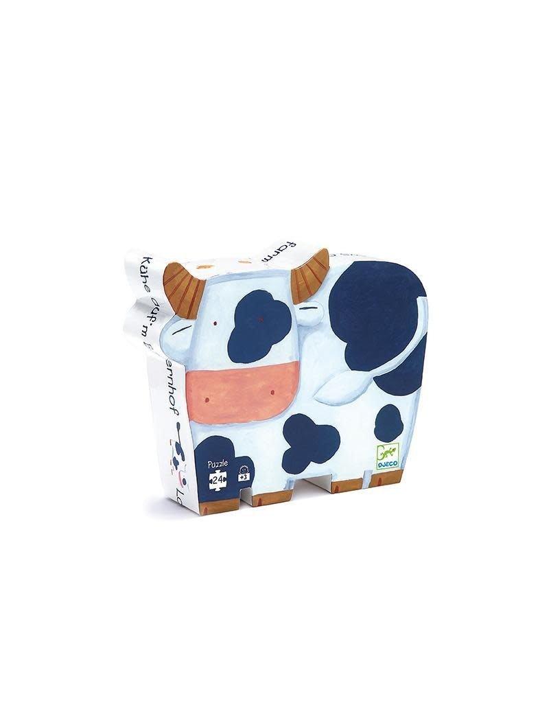 Djeco Djeco - puzzel, de koeien op de boerderij, 24 st