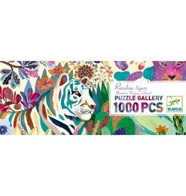Djeco Puzzel, gallery, rainbow tigers, 1000 st