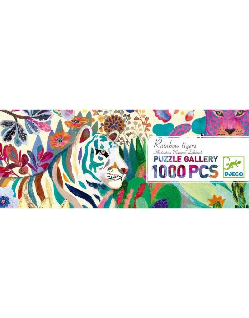 Djeco Djeco - puzzel, gallery, rainbow tigers, 1000 st