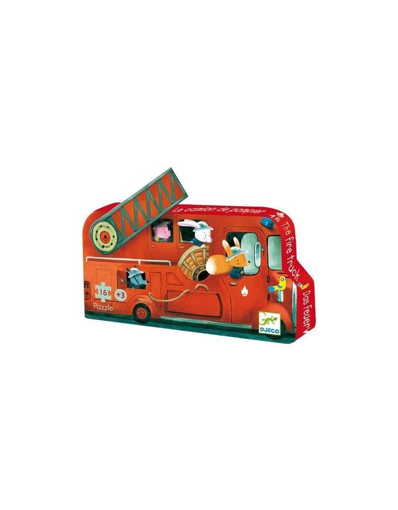Djeco Djeco - puzzel, de brandweerwagen, 16 st