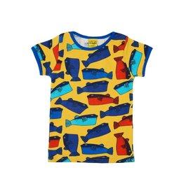 DUNS Sweden T-shirt, licht oranje, fugu (0-2j)
