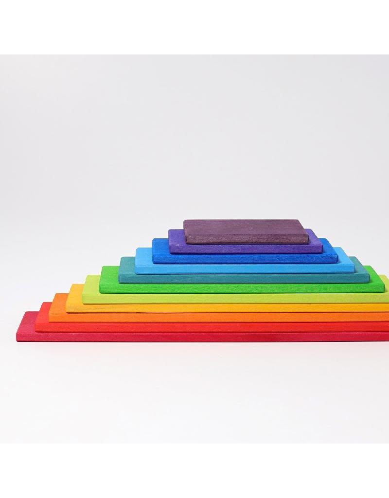 Grimm's Grimm's - bouwset, bouwplanken, regenboogkleuren, 11-delig