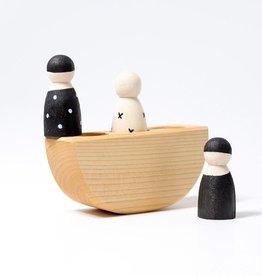 Grimm's 3 vriendjes in een bootje
