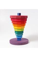 Grimm's Grimm's - sorteer- en stapelspel, toren, geometrische schijven, regenboogkleuren