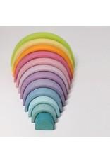 Grimm's Grimm's - bouwset, regenboog, pastel, 12-delig