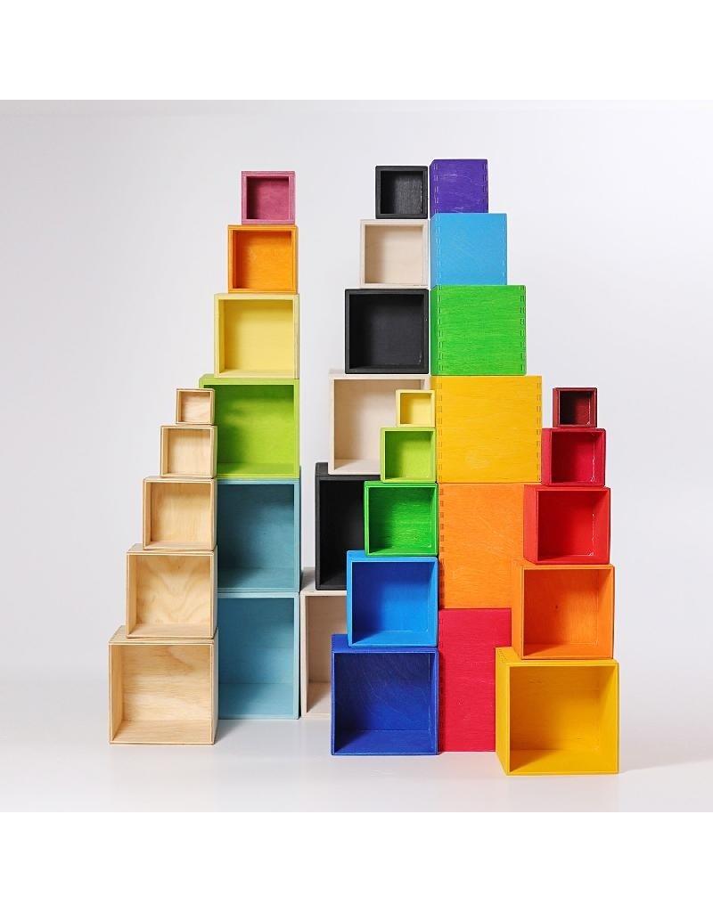 Grimm's Grimm's - bouwset, grote houten dozen, gekleurd