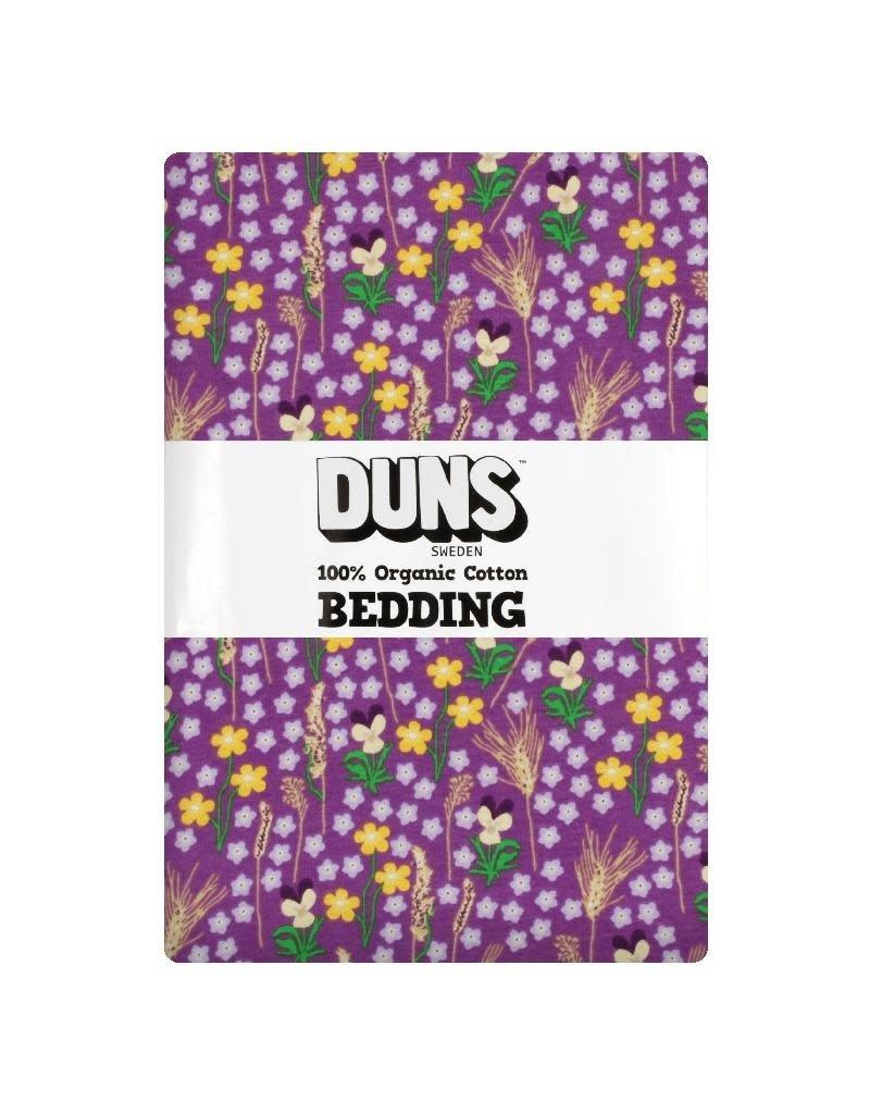 DUNS Sweden DunsSweden - donsdekenovertrek en kussensloop, purple, meadow, adult