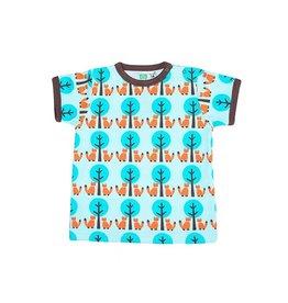 Sture & Lisa T-shirt, vossen en bomen (0-2j)