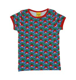 DUNS Sweden T-shirt, cornflower, radish (3-16j)