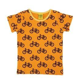 More than a Fling T-shirt, oranje, bike (0-2j)