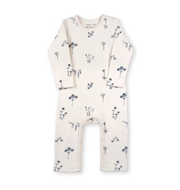 Organic by Feldman Jumpsuit, petrolblue plants delight (0-2j)