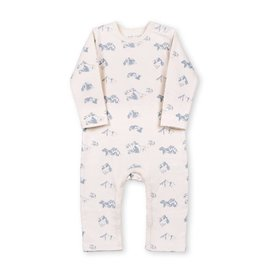 Organic by Feldman Jumpsuit, greyblue healing mountain (0-2j)
