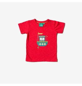 Little Green Radicals T-shirt, rood, Lost at Sea
