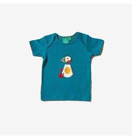 Little Green Radicals T-shirt, applicatie Puffin Island (0-2j)
