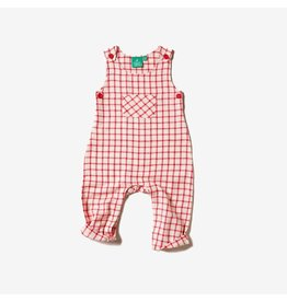 Little Green Radicals Playsuit, Red Check Adventure