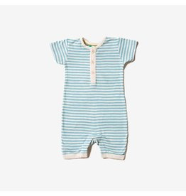 Little Green Radicals Summersuit, Corn Silk Blue Stripe (0-2j)