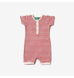 Little Green Radicals Summersuit, Red Stripe (0-2j)