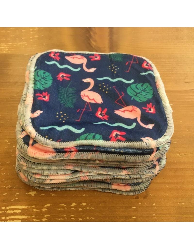 Cheeky Wipes Cheeky Wipes - doekjes, minky bamboo, flamingo, 25 stuks