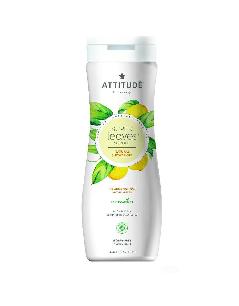 Attitude Attitude - showergel, Regenerating, lemon leaves