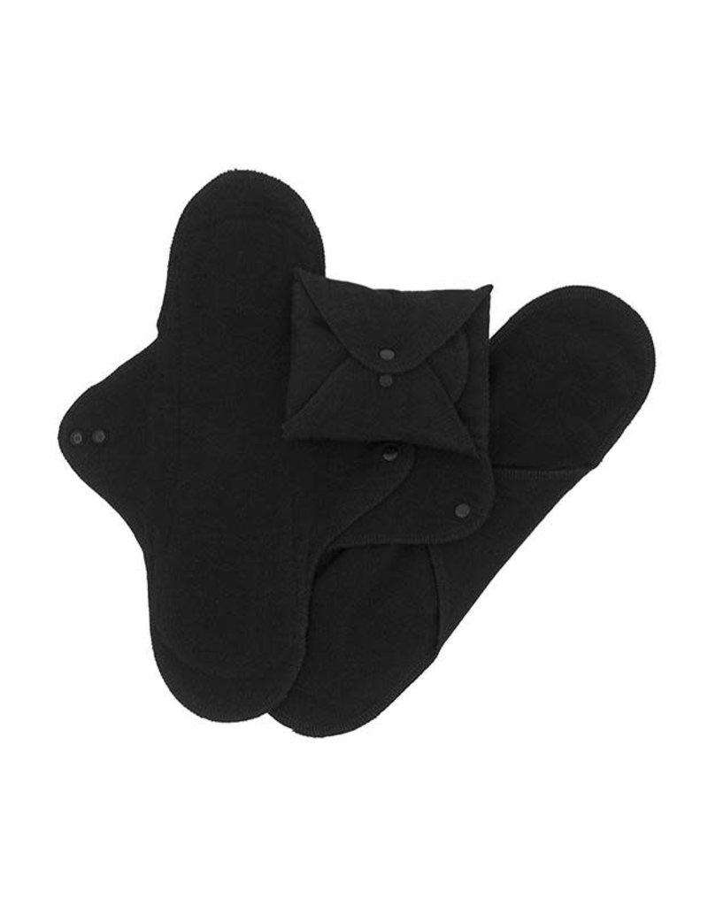 Imse Vimse Imse Vimse - nacht- of kraamverband, black, 3 stuks