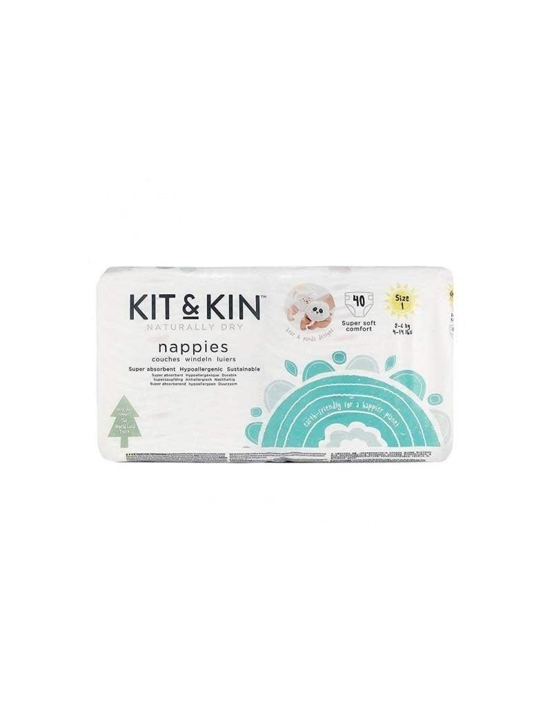 Kit & Kin Kit & Kin - wegwerpluier, 40 stuks, maat 1, 2 - 6 kg