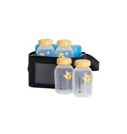 Medela Koeltasje + koelelementen, inclusief 4 flesjes van 150 ml
