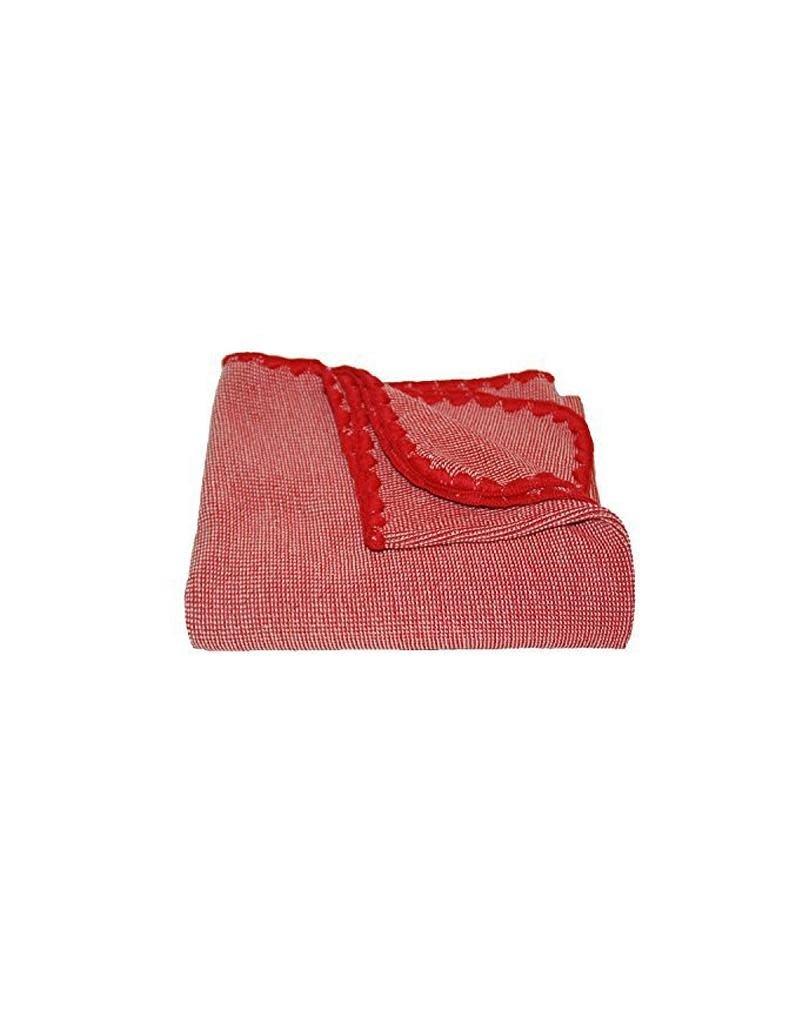 Disana Disana - deken,  melange, rood/ecru, 200 x 140 cm