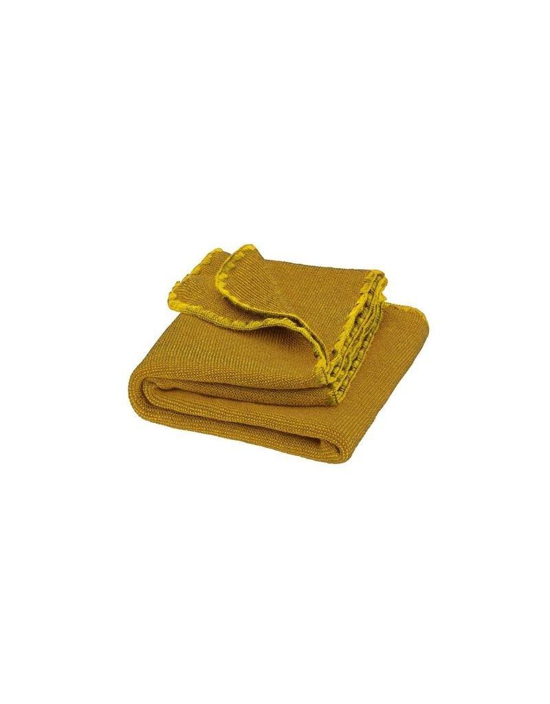 Disana Disana - deken, melange, curry/gold, 100 x 80 cm