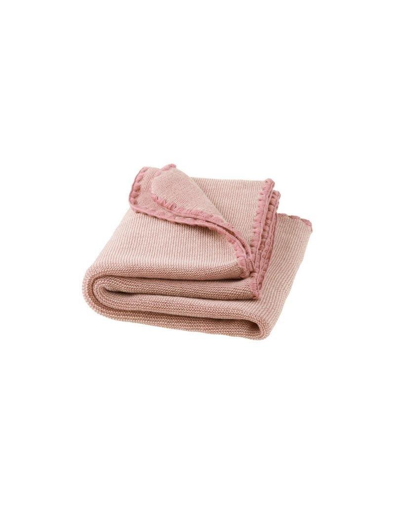 Disana Disana - deken, roze/ecru, 100 x 80 cm