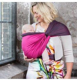Pure Baby Love Geweven doek Luxury Organic Dark Grey & Fuchsia Double