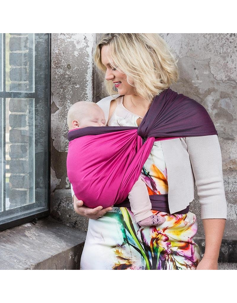 Pure Baby Love Pure Baby Love - geweven doek Luxury Organic Dark Grey & Fuchsia Double, size 6 (4,60 m)