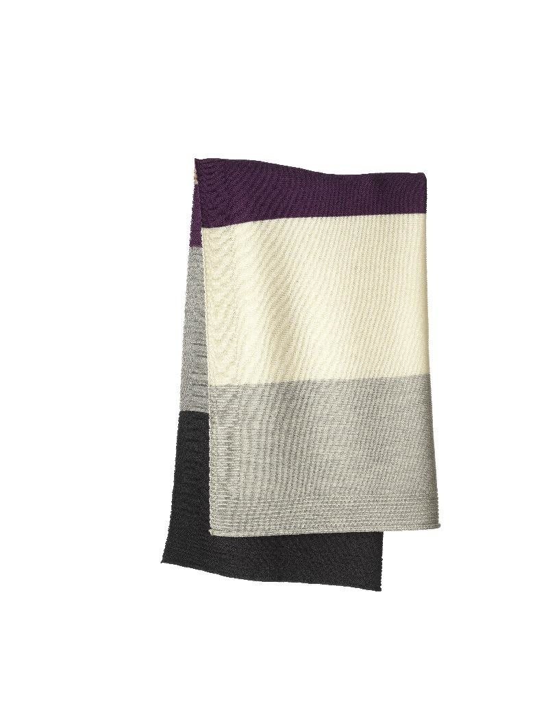 Disana Disana - deken, knitted, plum/grey, 100 x 80 cm