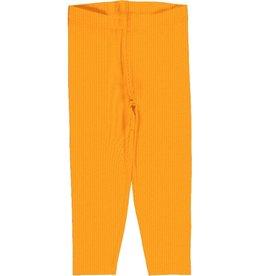 Maxomorra Legging, cropped, a solid tangerine (3-16j)