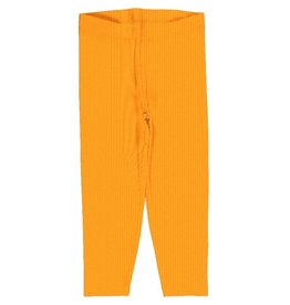 Maxomorra Legging, cropped, a solid tangerine
