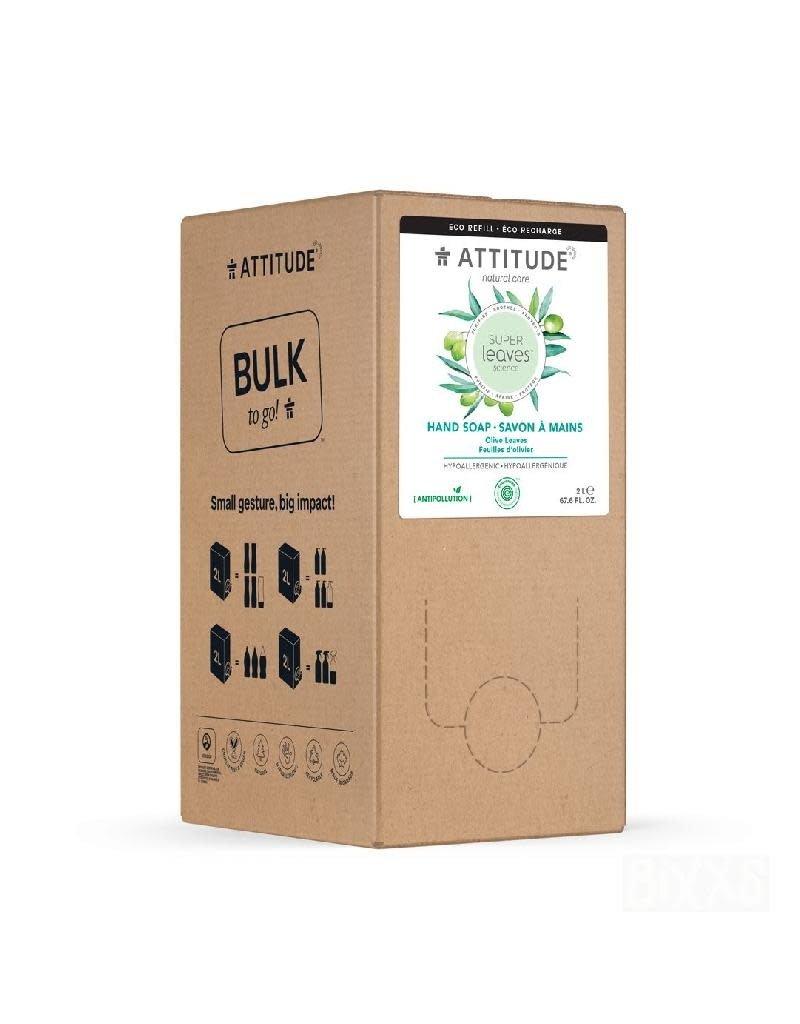 Attitude Attitude - Super Leaves handzeep, Olive Leaves, Bulk2Go, 2L