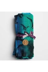 LennyLamb LennyLamb - wikkeldoek Jurassic Park blue, 120 x 120 cm