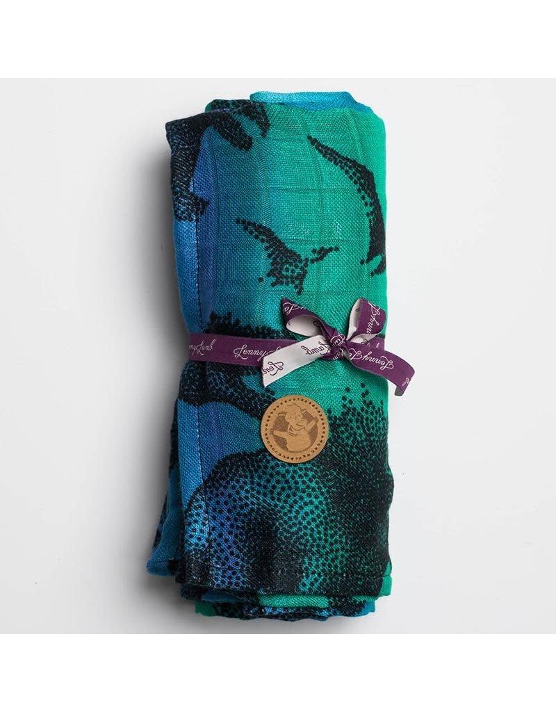 LennyLamb LennyLamb - wikkeldoek Jurassic Park blue, 200 x 135 (grade B)