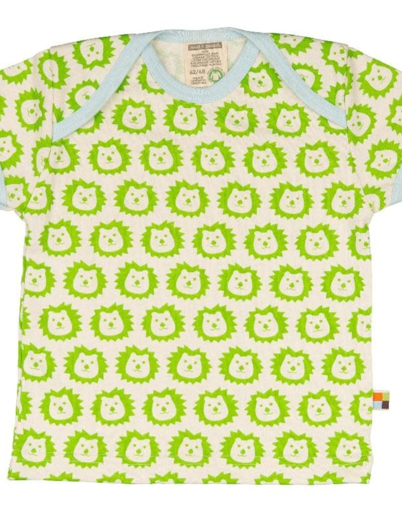 Loud+Proud Loud+Proud - T-shirt, lime leeuwen (0-2j)
