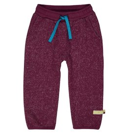 Loud+Proud Broek, melange knit, plum (3-16j)