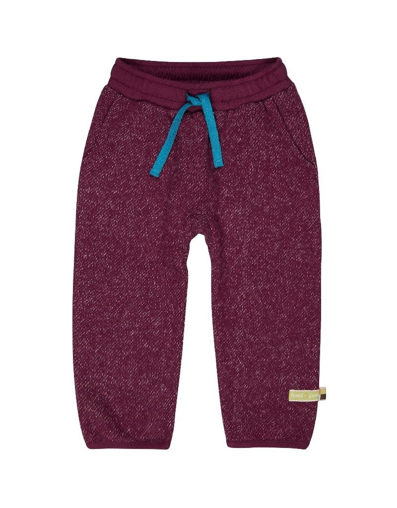 Loud+Proud Loud+Proud - broek, melange knit, plum