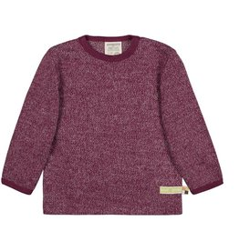 Loud+Proud Shirt, melange knit, plum (3-16j)