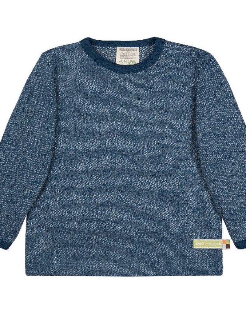 Loud+Proud Loud+Proud - shirt, melange knit, ultramarine - B